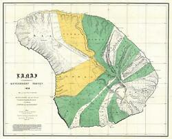 1878 Government Land Office Map Of Lanai, Hawaii