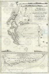 1860 Norie Nautical Map Of The Cape Of Good Hope And False Bay, South Africa