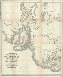 1853 Phillip Map Of The Gold Fields Of South Australia And Victoria