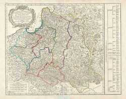 1807 Vaugondy Map Of Poland Following The Third Partition