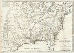 1744 Bellin Map Of North America W/ Florida And New England
