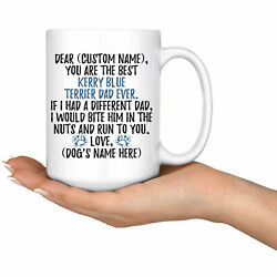 Personalized Kerry Blue Terrier Dog Dad Coffee Mug Kerry Dog Owner