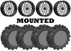 Kit 4 Legacy 589 M/s Tires 30x10-14 On Msa M37 Brute Beadlock Machined Can