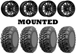 Kit 4 Interco Sniper 920 Tires 27x9-14 On Msa M40 Rogue Machined Wheels Can