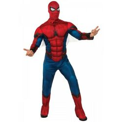 Spiderman Costume Adult Halloween Fancy Dress