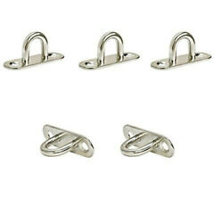 5 Pc Marine Boat Stainless Steel 5/16and039and039 Oblong Pad Eye Wire Strap Anchor Plate
