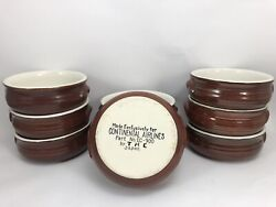 Lot Of 9 Vtg Onion Soup Bowls Dishes Continental Airlines Japan Thc Collectible