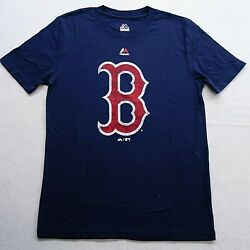 New MLB Boston Red Sox Majestic Navy 100% Cotton T-Shirt Kids Youth Sz M (1012) $13.49