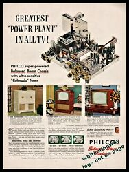 1962 Philco Television Tv Chassis Ad Model 2182 2145-x Console 2110-m Table Mode