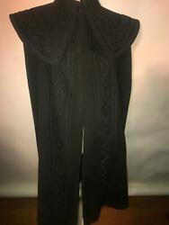Vtg 1800s Womens Victorian Thick Heavy Wool Long Riding Car Cape Coat Jacket