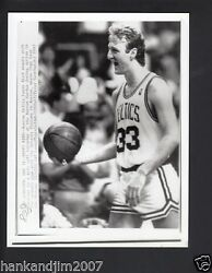 Larry Bird 1987 Nba Playoffs Vintage 7x9 Glossy A/p Wire Photo With Caption