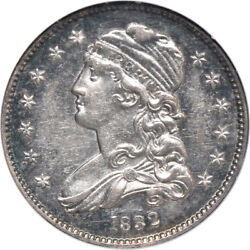 1832 Capped Bust Quarter Au / Almost Uncirculated 58, Ngc 25c C00038910