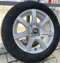 Msw 77 Alloy Wheels Smart 453 Winter Tyre 15 Inch Silver Continental