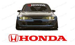 Honda Windshield Banner Decal For Type R Civic Old Civic And All Honda Vehicles.