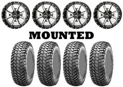 Kit 4 Maxxis Liberty Tires 28x10-14 On Frontline 556 Machined Wheels Sra