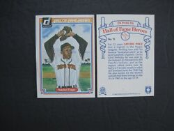 SATCHEL PAIGE CARD #11 Hall of Fame Heroes 1983 Donruss FREE SHIPPING $1.98