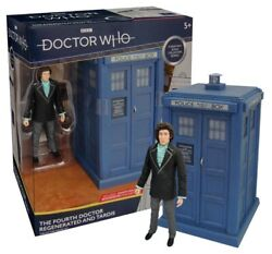 Doctor Who Classic Tardis With Regenerated 4th Doctor Figure Set - Uk Exclusive