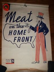 Set Wwii Instructional Posters Uncle Sam Meat On The Home Front Us Govt Nut Pro