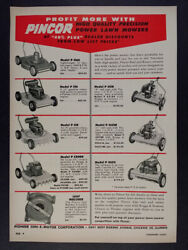 1955 Pincor Rotary And Reel Power Lawn Mowers Vintage Hardware Trade Print Ad