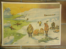 Rossignol french old school poster 2 sided cold climate / stone carry vintage