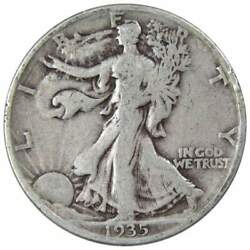 1935 D Liberty Walking Half Dollar Ag About Good 90 Silver 50c Us Coin
