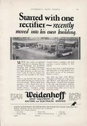 1928 Weidenhoff Rectifer Charger Ad / Chicago/ Great Gas Station Photo