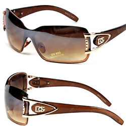 Womens Shield Wrap Around Sunglasses Fashion Designer Butterfly Shades One Lens $7.99