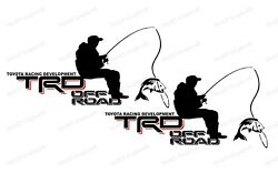 Toyota Trd Bass Fishing For Tundra And Tacoma Truck Bedside Decal 18x7 2 Pair