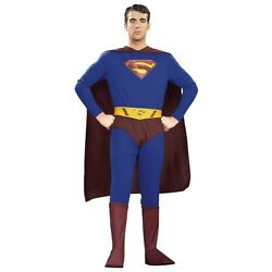 Superman Costume Adult Halloween Fancy Dress