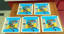 1988 Swell Nfl Andlsquofootball Greatsandrsquo Wax Pack Wrappers Lot Of 5
