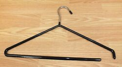 Unbranded Chrome Metal Rubber Coated Open End Pants Clothes Hanger Read