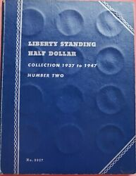 1937 - 1947 Liberty Standing Half Dollar Collection Book 30 Coins