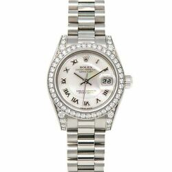 Rolex Lady Datejust White Gold 179159 Wristwatch - Decorated Mother of Pearl