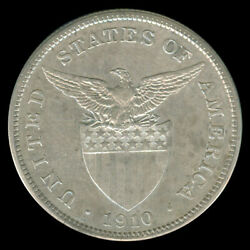 1910-s Us Administration Philippines Uspi 1 Peso Silver Coin - Stock C2