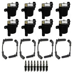 Ignition Wires 8 Coils 8 Spark Plugs Kit Acdelco For Express Savana 2500 V8 Rwd