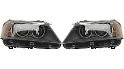 Pair Set Of Left And Right Genuine Bi-xenon Headlights Lamps Assies For Bmw F25 X3