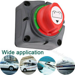 Dual Battery Selector Disconnect Switch For Marine Boat Rv Vehicles 1-2-both-off