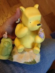 New Very Unique Disney Winnie The Pooh Sitting On A Rock Bank With Free Shipping