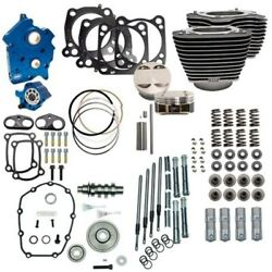 Sands 114 128 Water Cooled Power Package Gear Drive Black Chrome Harley M8 17+