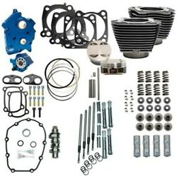 Sands 114 128 Water Cooled Power Package Chain Drive Granite Chrome Harley M8 17+