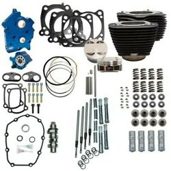 Sands 114 128 Oil Cooled Power Package Chain Drive Black Chrome Harley M8 17+ Nh