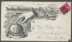Bristol, Ct New Departure Bell Co. Illustrated Adv. Cover Mailed 1893. Scarce