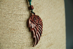 Tj169ca - 6x3 Cm Hand Carved Rosewood Carving Netsuke Necklace Pendant