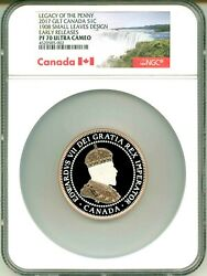 2017 Canada S1c Legacy Of The Penny Gilt 1908 Small Leaves Design Er Ngc Pf70 Uc