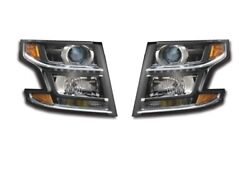 Left Right Genuine Headlights Headlamps Pair Set For Chevy No Hid Or Rst Pkg Gm