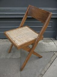 1960s RARE VINTAGE PIERRE JEANNERET LIBRARY CHAIR LE CORBUSIER CHANDIGARH INDIA