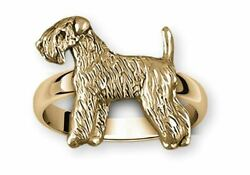 Soft Coated Wheaten Terrier Jewelry 14k Gold Handmade Wheaten Ring  XSCW121X-RG