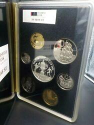 1991 New Zealand Rugby Proof Coin Set Cuhaj Ps 35