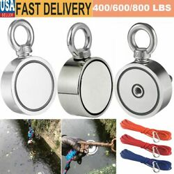 Double Sided Super Strong Neodymium Fishing Magnet 400/600/800lb Pulling Force
