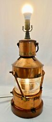 Best And Lloyd 23andrdquoh Maritime Copper Plated Oil Lantern Dated 1944. Electrified